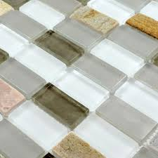 Mosaic Tile Backsplash Bathroom by Glass Mosaic Tile Sheets Straight Joint With Marble Tile