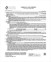 commercial lease agreement 10 free pdf word documents download