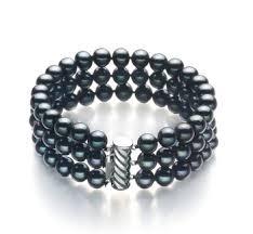 black pearl bracelet images Real black freshwater pearl bracelet for sale buy online at jpg