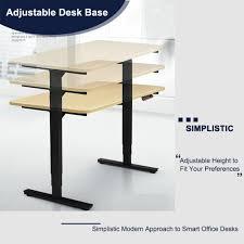 office desk adjustable height amazon com co z electirc adjustable height stanidng desk frame
