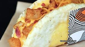 the egg comes out of its shell in new taco bell breakfast sandwich