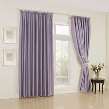 2017 classic solid lavender double pleated top blackout curtains