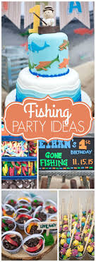boys birthday ideas fishing birthday ethan s fishing 1st birthday party
