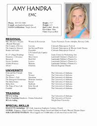 theatre resume template musical theatre resume template word sles free theater resume