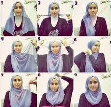 tutorial memakai jilbab paris yang simple cara memakai hijab segi empat yang modis dan simple hijab terbaru