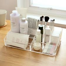 clear acrylic desk organizer acrylic compartment desk organizer transparent bathroom cosmetic