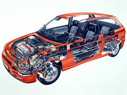 1991 1994 opel astra gsi f illustrated by g betti cutaways