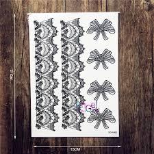 1pc lady arm leg makeup tattoo lace bracelet bow bowknot