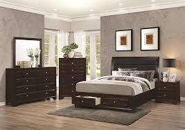 coaster bedroom set storage bed 6 piece bedroom set in cappuccino finish by coaster 203481