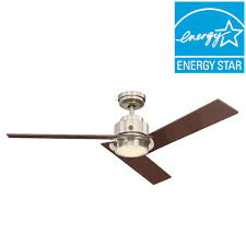 ge daelyn 54 in led indoor brushed nickel ceiling fan with