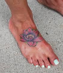 simple lotus tattoo on foot golfian com