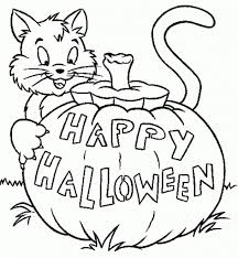 Halloween Coloring Book Pages by Halloween Coloring Page Kindergarten Coloring Page Within