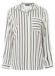 black and white blouse monochrome striped pocket shirt dorothy perkins