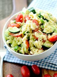 greek orzo salad with mustard dill vinaigrette bobby flay u2013 recipe