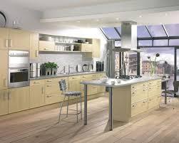 neutral kitchen decor round simple bar stools pendant light