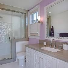 Gray Purple Bathroom - girls u0027 bathroom design by coddington design