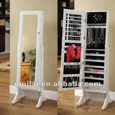 standing mirror jewelry cabinet free standing jewelry armoire standing mirror jewelry cabinet mf
