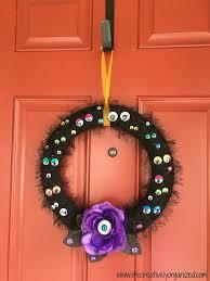 spooky eyeball halloween wreath hometalk