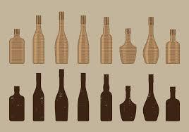 wine bottle svg champagne bottle line drawing download free vector art stock