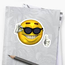 Smiley Meme - ironic meme smiley face with sunglasses stickers by kixlepixel