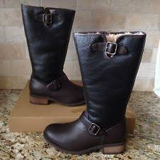 ebay womens leather boots size 9 ugg australia chancery bomber black leather boots womens 9 ebay