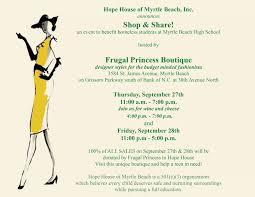 Shop Opening Invitation Card Hhmb Announces Shop N U0027 Share Fundraiser Hosted By Frugal Princess