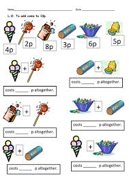 money worksheets totals and change by clara5 teaching