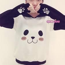 panda sweater kawaii panda fleece sweater jumper sp154568 spreepicky