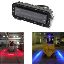 blue warning lights on forklifts 10pcs 48v 80v safety forklift light with red or blue zone led danger