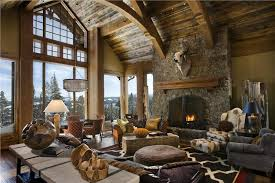 Dramatic CountryRustic Living  Family Room By Jerry Locati - Country family rooms