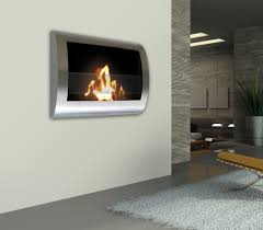 black chelsea wall mount bio ethanol fireplace