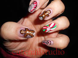 cute nails christmas nail art challenge day 2 gingerbread man