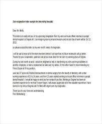6 sample internship resignation letters free sample example
