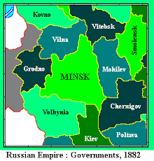 minsk russia maps whkmla russian empire government of minsk minsk governorate