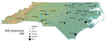 Map Of Raleigh Nc Towns And Villages North Carolina Digital History