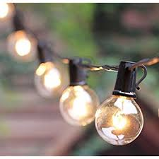 Patio Lights Outdoor G40 String Lights Vintage Backyard Patio Lights With 25