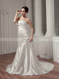 wedding dress ruching ruched strapless sweetheart satin wedding dress with beaded applique