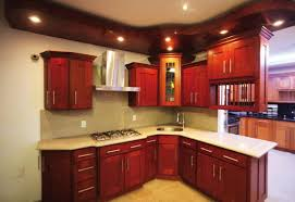 Kitchen Cabinets Cherry Kitchens With Cherry Cabinets Brown Lacquered Wood Kitchen Cabinet