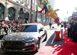 2018 audi a8 shows up at spider man homecoming premiere