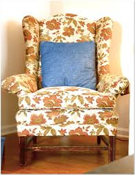 Winged Chairs Design Ideas Linen Wingback Chair Design Ideas Arumbacorp Chair And Home