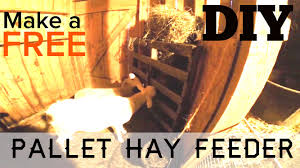 10 min diy how to make a free animal hay feeder out of pallets