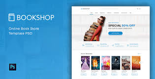 templates for bookshop bookshop online book store template psd by peterdrawstudio
