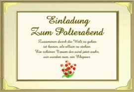 einladung zum polterabend polterabend einladung gedicht
