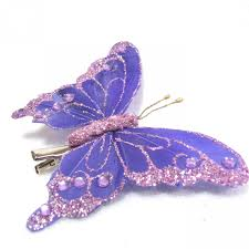butterfly hair glitter butterfly hair clip