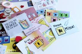 valentines for printable chemistry valentines for kids with chemistry facts