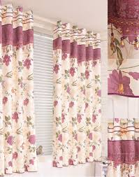 but country style floral and leaf half door curtains