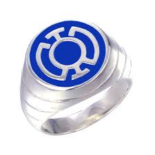 blue rings jewelry images Blue lantern inspired silver ring enameled jewelry jpg