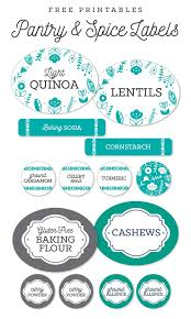 labels for kitchen canisters free pantry printable labels by liag including spice jar labels