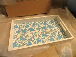 Decorative Serving Tray Routed Handles for Easy Carrying