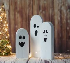halloween ghosts rustic halloween decor primitive ghost